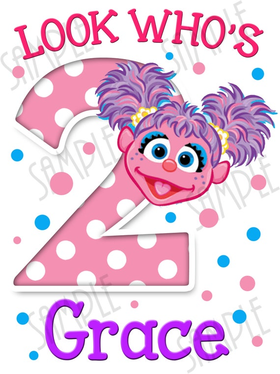 Abby Cadabby Sesame Street Look Who S Birthday Girl Diy Instant Download Personalized Matching Birthday Shirt Iron On Transfer Printable Svg