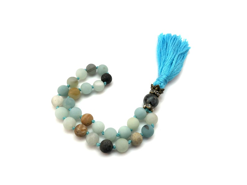 27980c1f6d742 27 Bead Pocket Mala, Amazonite, Throat Chakra, Wrist Mala, Meditation Mala,  Reiki Charged, Yoga Teacher Gift, Gift for Yogi, Prayer Beads