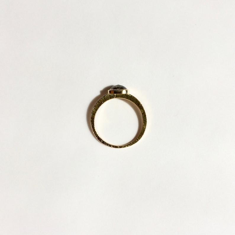 Minimalist Jewelry Diamond Ring Minimalist Ring Gold Ring with Diamond 18KT Diamond Ring Rose cut Diamond Jewelry