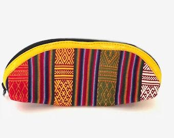 Bhutanese handmade pencil & makeup pouch