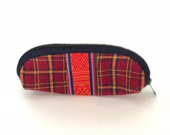 Bhutanese handmade pencil & makeup bag