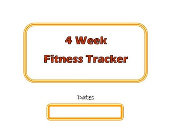 4 Week Fitness Tracker (Citrus)
