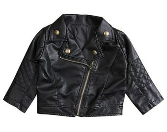 Pre-order Faux leather Moto Jacket. Ships in 3-4 weeks.