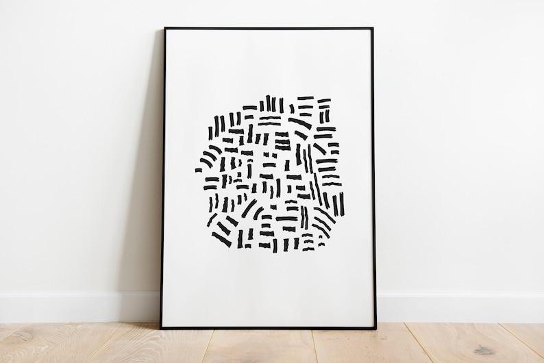 Abstract line art print abstract print abstract art line image 0