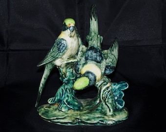 Stangl Double Parakeets (Green) #3582