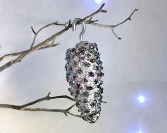 Glitter Pinecone Christmas Ornaments