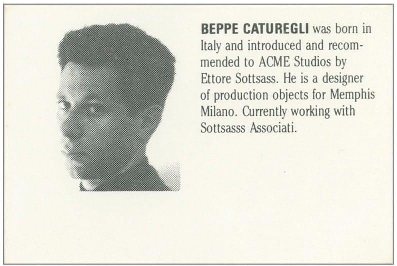 MEMPHIS Designer Beppe Caturegli Gio Earrings by ACME Studio VINTAGE