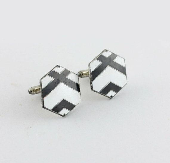 "M.C. Escher  ""Hex"" Cufflinks by ACME Studio"
