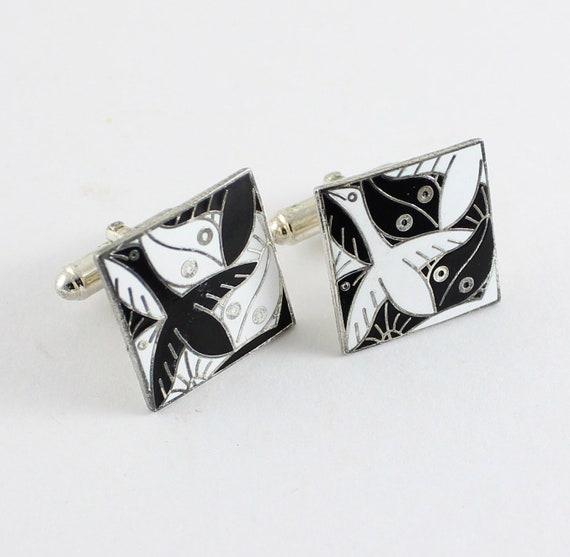 "M.C. Escher  ""No. 136"" Cufflinks by ACME Studio"