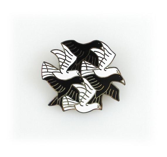 "M.C. Escher  ""Cordon"" Brooch by ACME Studio"