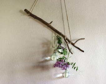 Hanging wall light bulbs