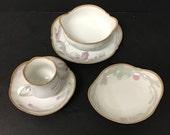 Vintage Meissen Porcelain Set of Art Nouveau Dishes