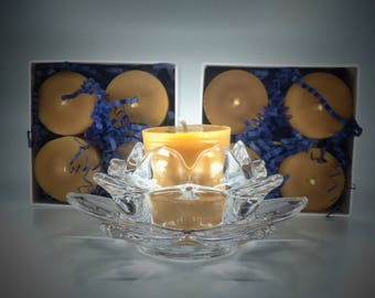 100% Pure Beeswax Votive Candles (Box of Four)