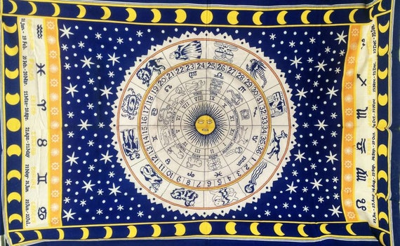 Tapestry Wall Hanging Mandala Indian Decor Hippie Throw Bohemian Beach Astrology