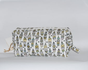 Feathers cosmetic bag pencil case
