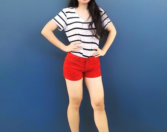 Girl's Second-Hand Red Booty Shorts