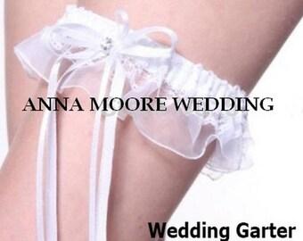 Wedding Garter White Lace Bridal leg garter