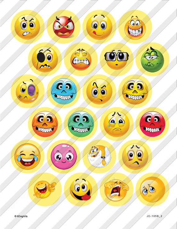 photo about Emoji Printable Sheets named Smileys, Emoji Electronic Collage Sheets Printable Down load 1.629\