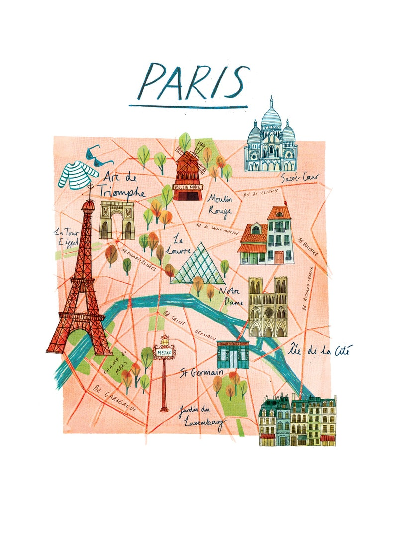A3 Illustrated map of Paris on photography of paris, high resolution map of paris, simplified map of paris, fun map of paris, highlighted map of paris, religion map of paris, english map of paris, watercolor of paris, large map of paris, travel map of paris, white map of paris, detailed street map of paris, printable map of paris, outlined map of paris, antique map of paris, color map of paris, illustration of paris, interactive map of paris, history map of paris, sports map of paris,