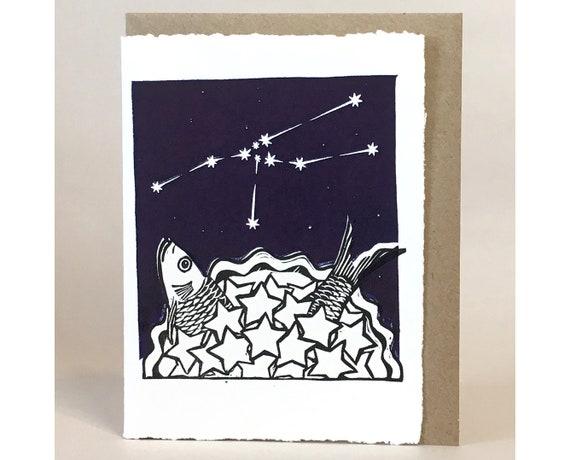 Stargazey Himmel Stier Sternzeichen Geburtstagskarte April Etsy