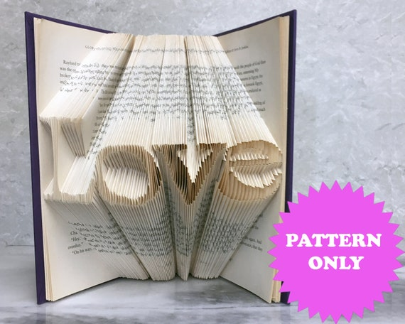 Book Folding Pattern Love Fold Only Pattern 60 Pages Etsy Gorgeous Book Folding Patterns Free Download