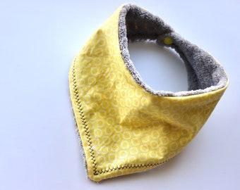 Yellow Polkadot Baby Bandana Bib