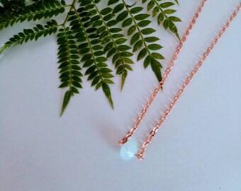 Opalite 18k Rose Gold  necklace/gem necklace/ crystal necklace / Opalite necklace
