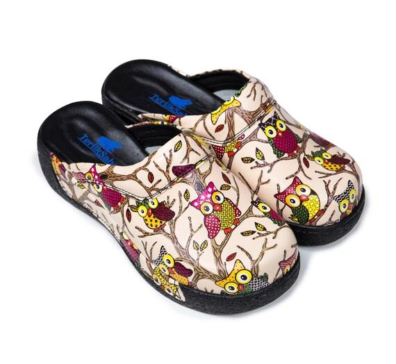 Owl WoHommes 's Clogs & & & Nursing Clogs 1ead74
