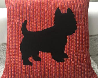 West Highland Terrier Harris Tweed Cushion
