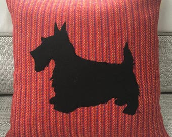 Scottie Dog Harris Tweed Cushion