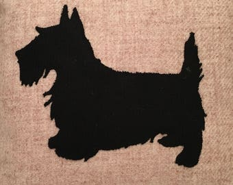 Scottish Terrier Harris Tweed Cushion