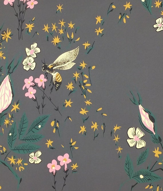 Honey Bee Novelty Wallpaper Sample Wall Art Craft Design Reference Maerial