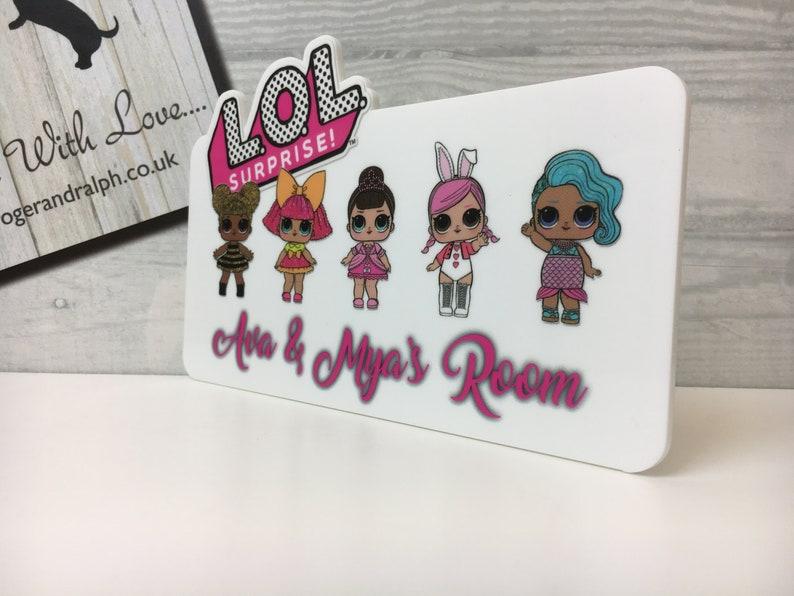 Lol Doll Door Sign, Kids Bedrooms, Bedroom door plaque, Lol Dolls Plaque   FREE DELIVERY