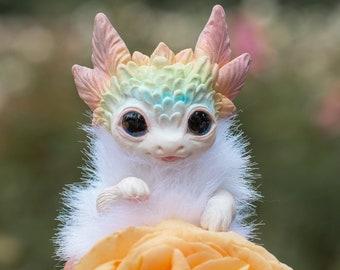 Tiny flower dragon poseable art toy