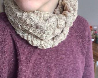 Elegant knitted cowl