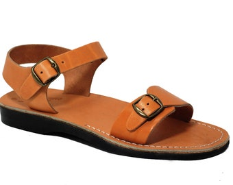 Tan Leather Sandals, Greek Sandals For Man Gladiator Sandals, Flat sandals, Men Open Toe Sandals, Greek  Sandals