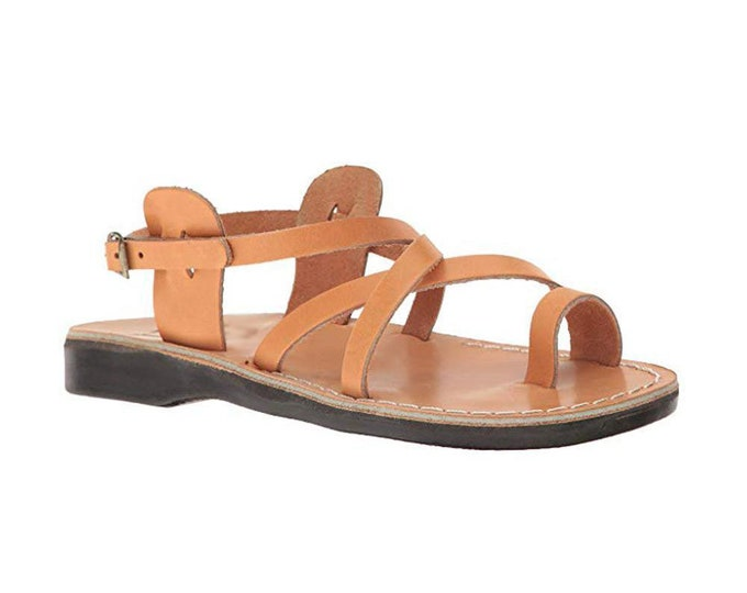 Tan Leather sandals for women - Model 6 natural