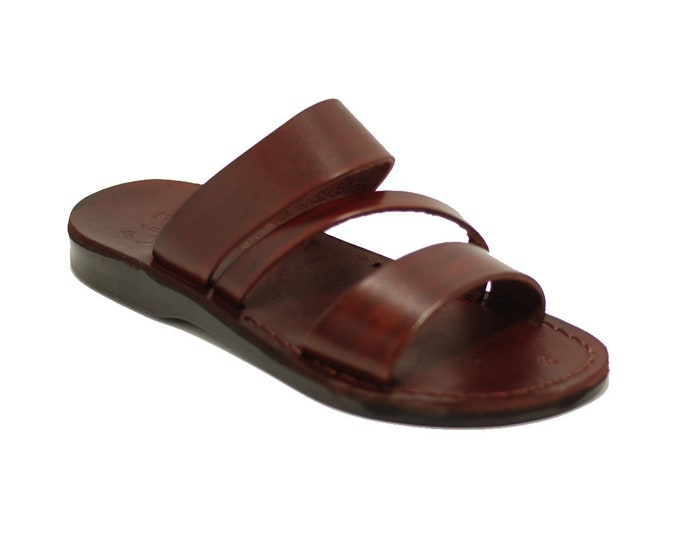 Brown Leather Sandals For Men And Women - Model 9