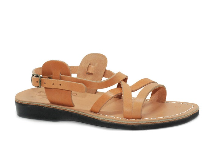 Man gladiator sandal - Model 2 tan