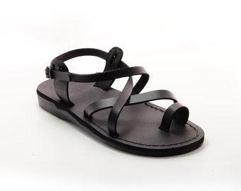 Black leather sandals for men - Model 6 black