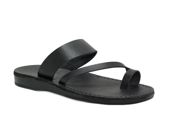 Black leather sandals for men - Model 24 black