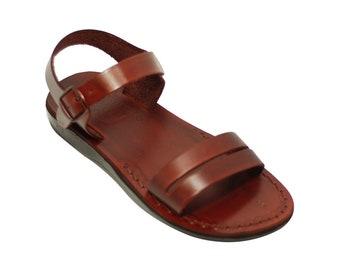 Leather Sandals Handmade Greek Leather Sandal For Men In Brown Leather - Model 14 Men