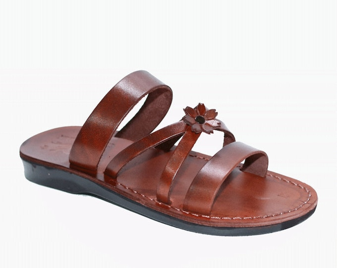 Greek Sandals Open Toe Slippers, Leather Sandals For Women - Model 50