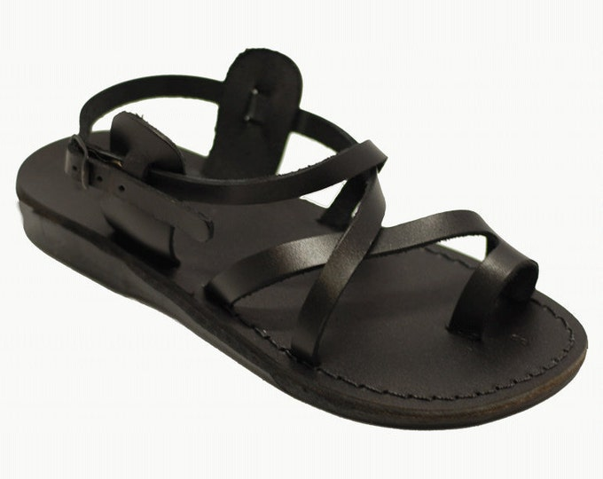 Black leather sandals for women - Model 6 black