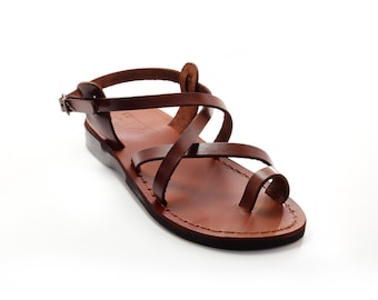 Brown women leather sandals - Model 6