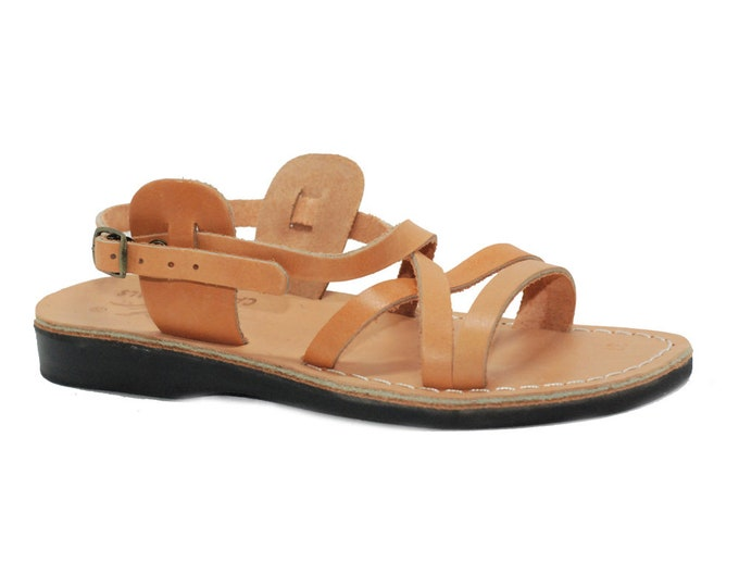 Leather sandals for women, greek sandals - Model 2 Natural Women