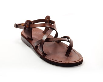 Mens Thong Leather Sandals, Jesus Sandals - Model 3 Men