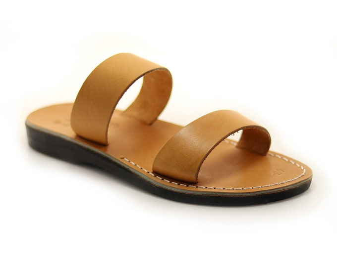 Man Leather Sandals, Greek Handmade Brown Leather Sandal.