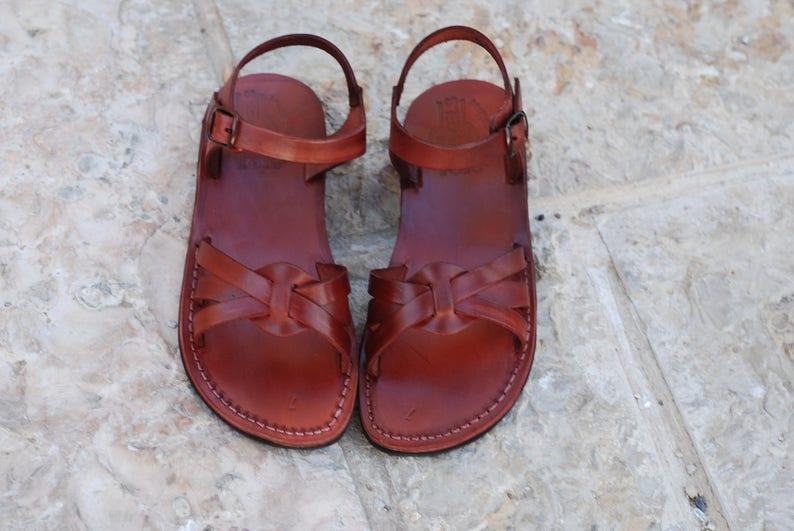 109bb3172 Brown leather sandals women greek sandals wedding sandals