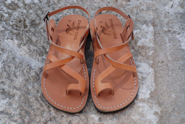 afa9270a3 Leather sandals Jesus sandals men gladiator sandals flat